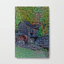 Old Grist Mill Babcock State Park WV Metal Print