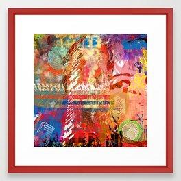 brushes Framed Art Print