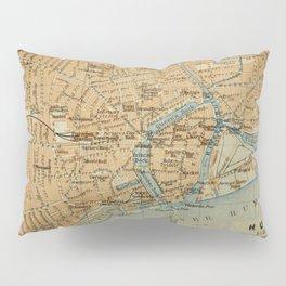 Vintage Hull England Map (1910) Pillow Sham