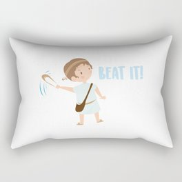 Bible character. David is brave Rectangular Pillow