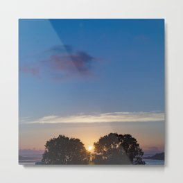 Sunset Between Trees Metal Print