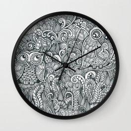 Owlie and Owlia Wall Clock