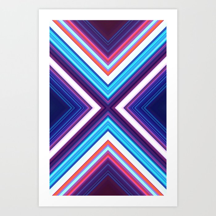 Neon Pond Art Print