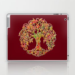 Tree of Life Maroon Laptop & iPad Skin