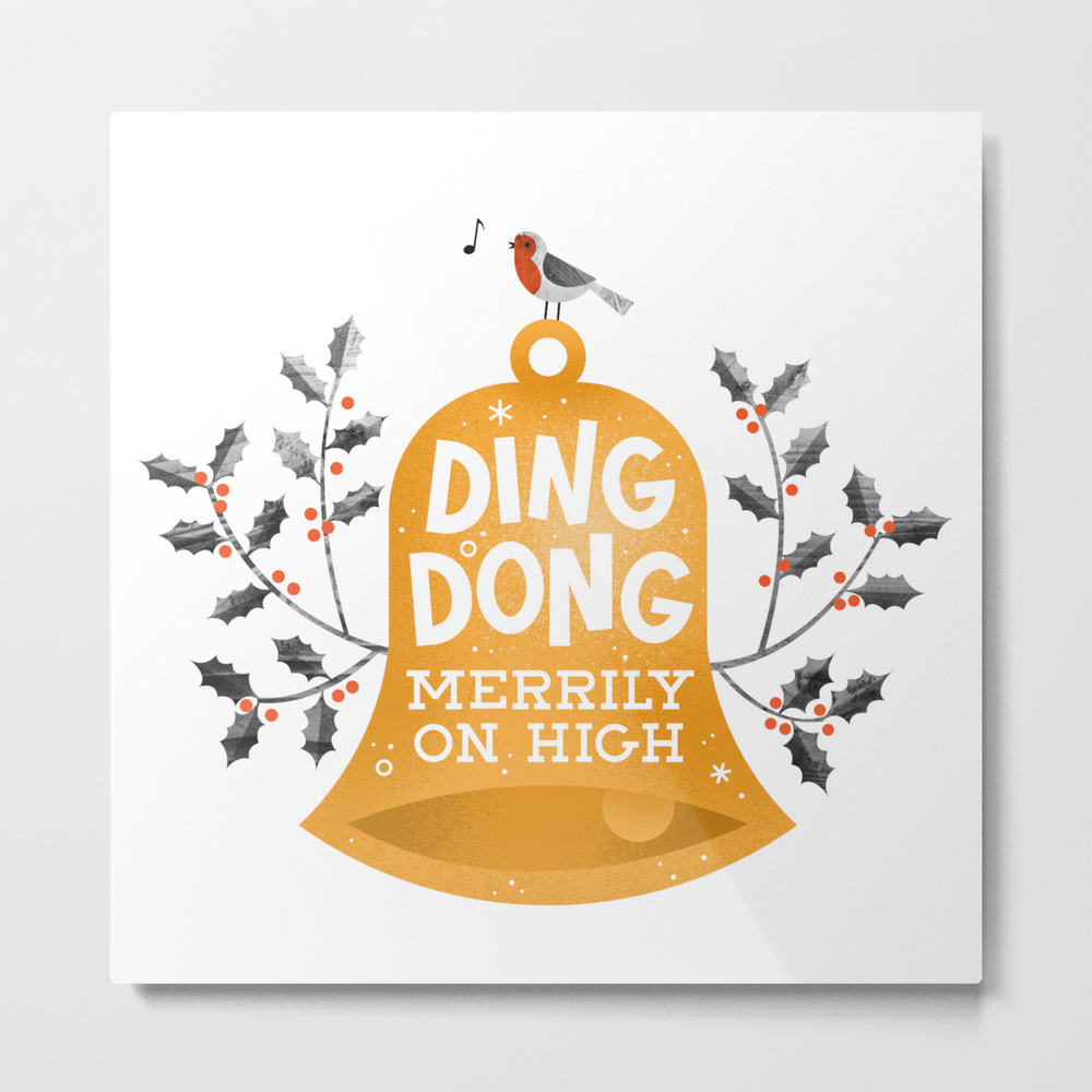 Ding Dong Merrily On High Metal Print by Wharton MTP8269307