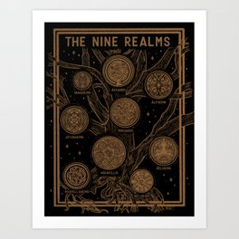 Yggdrasil: The Nine Realms Art Print