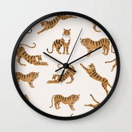Tiger Print Wall Clock