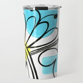 Abstract flowers Travel Mug