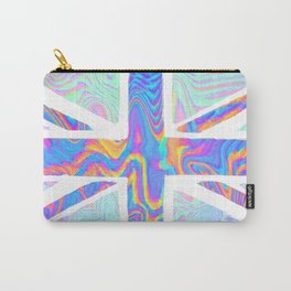 Holographic Union Jack  Carry-All Pouch