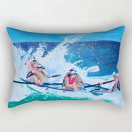 Surf Boat Rowers Rectangular Pillow