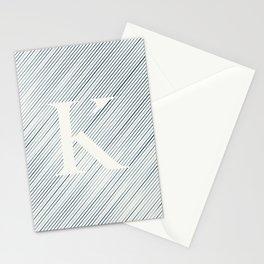 Striped K Stationery Cards