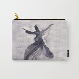 whirling dervish - sufi meditation - ink wash Carry-All Pouch