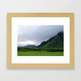 Rainy O'ahu Framed Art Print