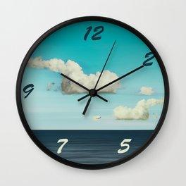 Strange Clouds Wall Clock