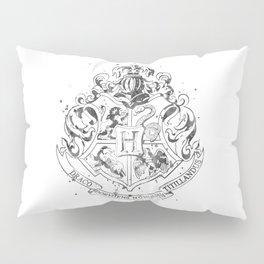 Hogwarts Crest Black and White Pillow Sham