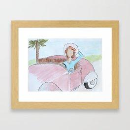 Vintage Car Ride Framed Art Print