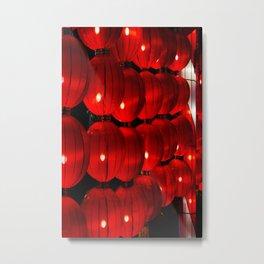 Lanterns in the night. Metal Print