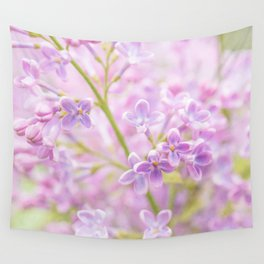 Lilac Flowers Mist Wall Tapestry