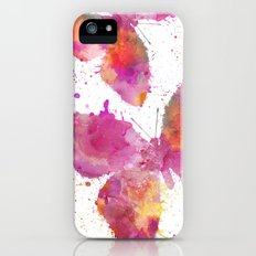 Artsy Butterfly colorful watercolor art iPhone SE Slim Case