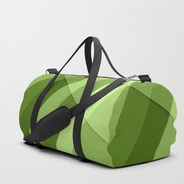 Greenery modern geometric lines Duffle Bag