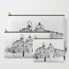 drawing pencil. the city central street, a streetlight on a front background. beginning of the 19th Carry-All Pouch