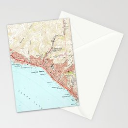 Vintage Map of Laguna Beach California (1965) Stationery Cards