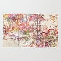 phoenix Area & Throw Rugs featuring Phoenix  by MapMapMaps.Watercolors