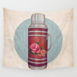 Retro Warm Water Jar Wall Tapestry