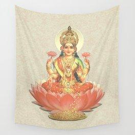 Lakshmi, Goddess of Love (Coral) Wall Tapestry