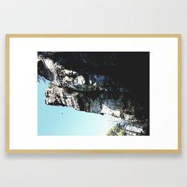 Cliffs at Noon Framed Art Print