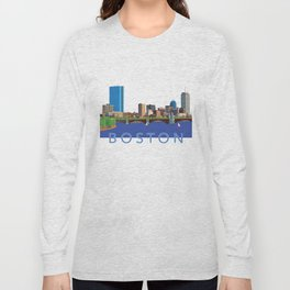 Back Bay Boston Skyline Long Sleeve T-shirt