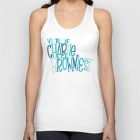 charlie brown Tank Tops featuring Charlie Browniest by Chelsea Herrick