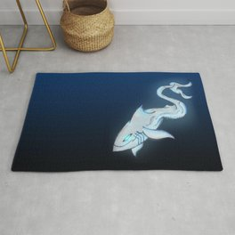 Great White Ghost Rug