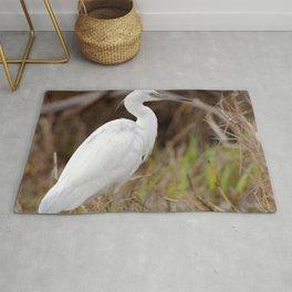 Watercolor Bird, Little Blue Heron 03, Merchants Millpond, North Carolina, Swamp Fisher Rug