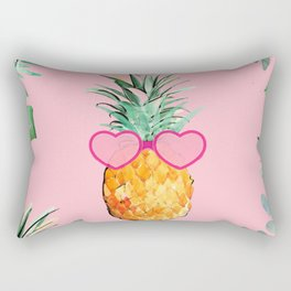 Cool Pinapple with Glasses Rectangular Pillow