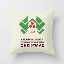 Nakitomi Plaza - Action movie Christmas Throw Pillow