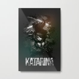 League of Legends Katarina Metal Print