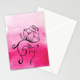 Ohm. Lotus. Butterfly Stationery Cards