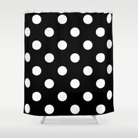 dot Shower Curtains featuring Dot Dot Dot  by Spotted Heart