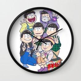6 Same Faces Wall Clock