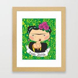 frida kahlo by iso Framed Art Print