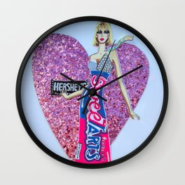 Sweettarts For My Sweetheart - Bright Colors Wall Clock