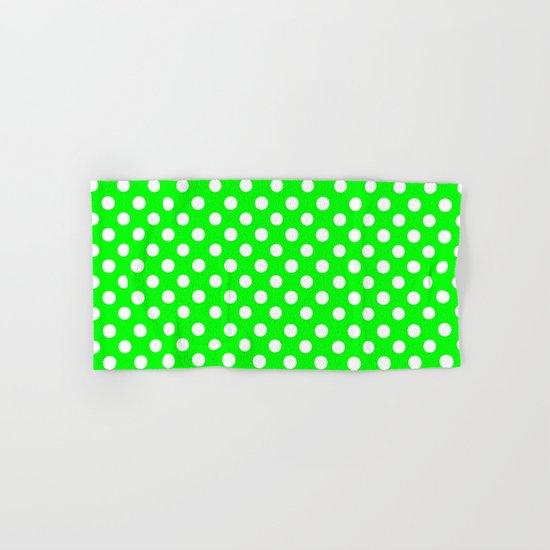 Polka Dots (White/Green) Hand & Bath Towel