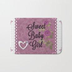 Sweet Baby Girl Bath Mat