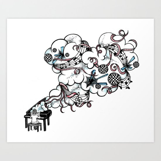 Piano Music Art Print