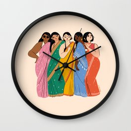 Crisp Cotton Sarees Wall Clock