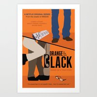 oitnb Art Prints featuring OITNB by MLauxDesign