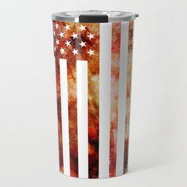 Ice Hockey USA Flag Travel Mug