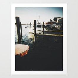 Crab boat Art Print