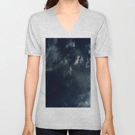 Cloud and sky 13 -cloud, sky, blue, positive,optimism Unisex V-Neck
